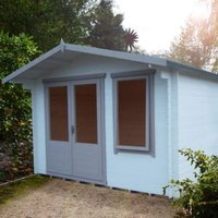 11X8 Berryfield 19mm Tongue & Groove Timber Log Cabin with Assembly Service