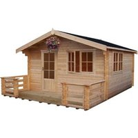 Shire Kinver 14x14 Apex Tongue and groove Wooden Cabin
