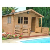 14X14 Kinver 34mm Tongue & Groove Timber Log Cabin with Assembly Service