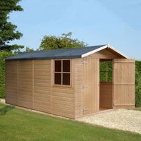 13X7 Jersey Apex Shiplap Wooden Shed with Assembly Service