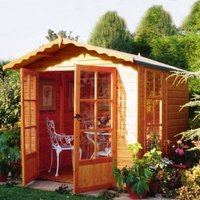 7X7 Buckingham Shiplap Timber Summerhouse with Assembly Service