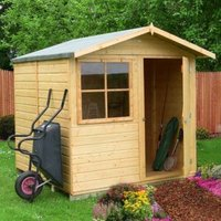 7x7 Abri Apex Shiplap Wooden Shed With assembly service