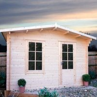 10X10 Bucknells 28mm Tongue & Groove Timber Log Cabin with Assembly Service