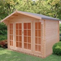 10X8 Epping 28mm Tongue & Groove Timber Log Cabin with Assembly Service