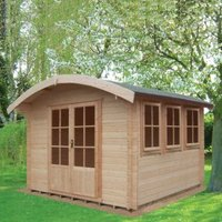10X14 Kilburn 28mm Tongue & Groove Timber Log Cabin with Assembly Service