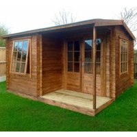 12X13 Ringwood 28mm Tongue & Groove Timber Log Cabin with Assembly Service