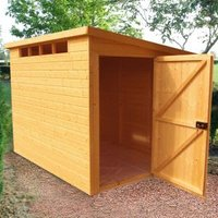 10X6 Security Cabin Pent Shiplap Wooden Shed with Assembly Service