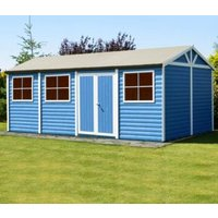 20X10 Mammoth Loglap Timber Shed with Assembly Service