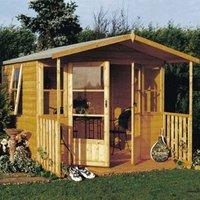 8X9 Milton Shiplap Timber Summerhouse