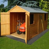 12X6 Atlas Apex Shiplap Wooden Shed with Assembly Service