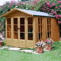 10X7 Kensington Shiplap Timber Summerhouse with Assembly Service