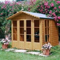 7X7 Kensington Shiplap Timber Summerhouse with Assembly Service Base Included