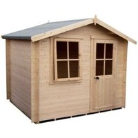 Shire Hartley 8x8 Apex Tongue and groove Wooden Cabin (Base included)