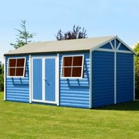 15X10 Mammoth Loglap Timber Shed with Assembly Service