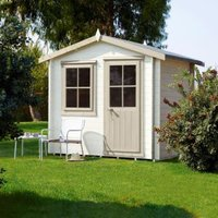 8X8 Hartley 19mm Tongue & Groove Timber Log Cabin with Assembly Service Base Included