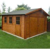 15X13 Bradenham 34mm Tongue & Groove Timber Garage Base Included