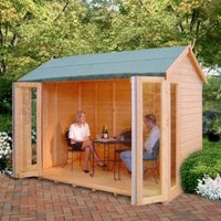 10X8 Blenheim Shiplap Timber Summerhouse with Assembly Service