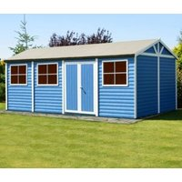 24X12 Mammoth Loglap Timber Shed with Assembly Service