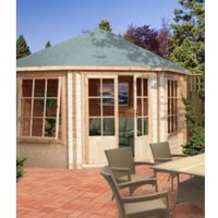 10X10 Belvoir 28mm Tongue & Groove Timber Log Cabin