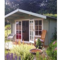 10X8 Cannock 28mm Tongue & Groove Timber Log Cabin with Assembly Service