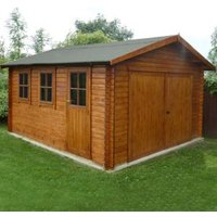 13X12 Bradenham Timber Garage Base Included with Assembly Service