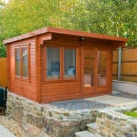 14X12 Danbury 28mm Tongue & Groove Timber Log Cabin with Assembly Service
