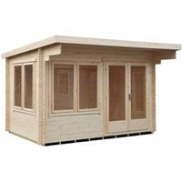 Shire Danbury 12x8 Pent Tongue and groove Wooden Cabin