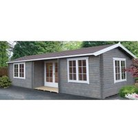 26X14 Elveden 44mm Tongue & Groove Timber Log Cabin with Assembly Service