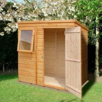 6X4 Caldey Pent Shiplap Wooden Shed with Assembly Service
