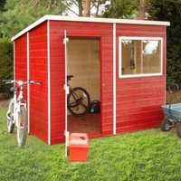 8X6 Caldey Pent Shiplap Wooden Shed Base Included