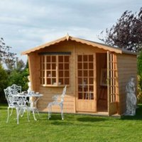 10X6 Sandringham Shiplap Timber Summerhouse with Assembly Service