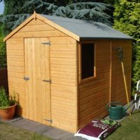 8X6 Durham Apex Shiplap Wooden Shed with Assembly Service Base Included
