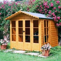 7X7 Kensington Shiplap Timber Summerhouse with Toughened Glass Base Included