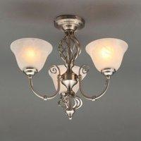 Rolli Satin Nickel Effect 3 Lamp Ceiling Light