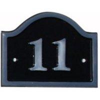 Black Aluminium House Plate Number 11