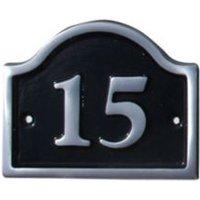 Black Aluminium 120mm House plate number 15