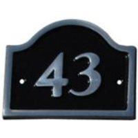 Black Aluminium 120mm House plate number 43