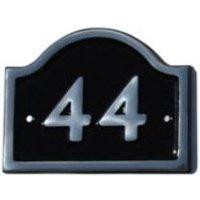 Black Aluminium 120mm House plate number 44