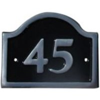 Black Aluminium House Plate Number 45