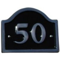 Black Aluminium House Plate Number 50