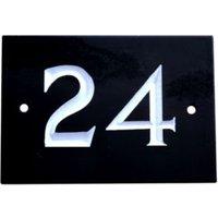 Black Slate Rectangle House Plate Number 24