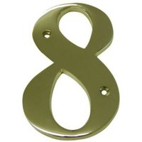 Brass 150mm House number 8