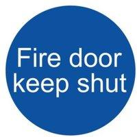 Fire door keep shut Fire information sign  (H)100mm (W)100mm