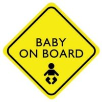 PVC Self Adhesive Baby On Board Window Sign (H)150mm (W)150mm