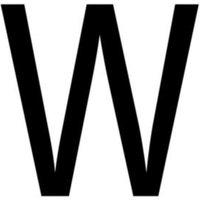 Black PVCu Die cut 60mm House letter W