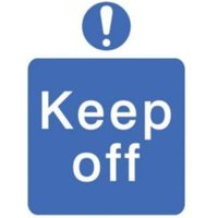 Keep off Self-adhesive labels  (H)200mm (W)150mm