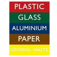The House Nameplate Company PVC Self Adhesive Recycling Bin Sticker (H)200mm (W)150mm