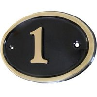 Black Brass House Plate Number 1