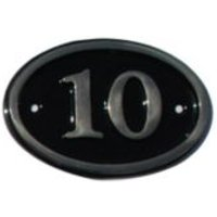 Black Brass House Plate Number 10