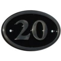 Black Brass House Plate Number 20